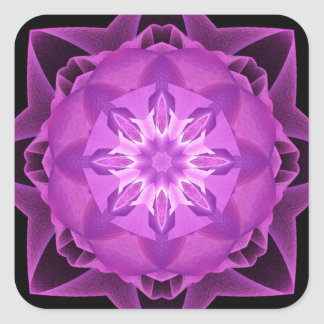 Magenta de Stardust del fractal Pegatina Cuadrada