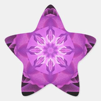 Magenta de Stardust del fractal Pegatina En Forma De Estrella