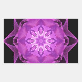Magenta de Stardust del fractal Pegatina Rectangular