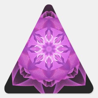 Magenta de Stardust del fractal Pegatina Triangular