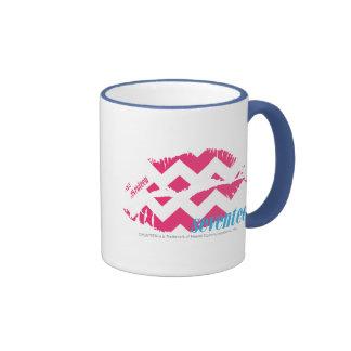 Magenta del zigzag taza de dos colores