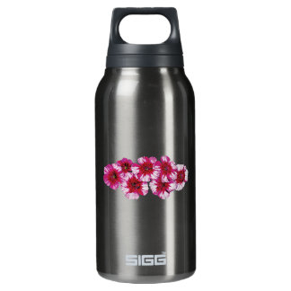 Magenta Dianthus Insulated Water Bottle