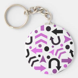 Magenta direction pattern keychain