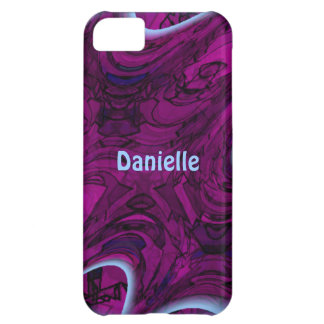 Magenta Disaster Abstract Case For iPhone 5C