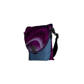 Magenta Disaster Abstract Courier Bag