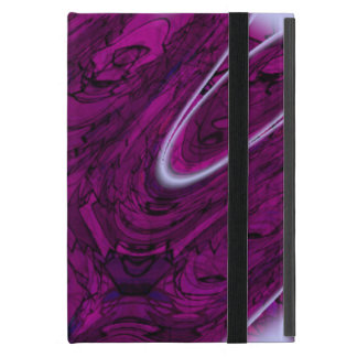 Magenta Disaster Abstract Cover For iPad Mini