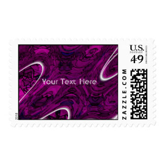 Magenta Disaster Abstract Postage