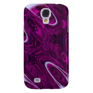Magenta Disaster Abstract Samsung S4 Case