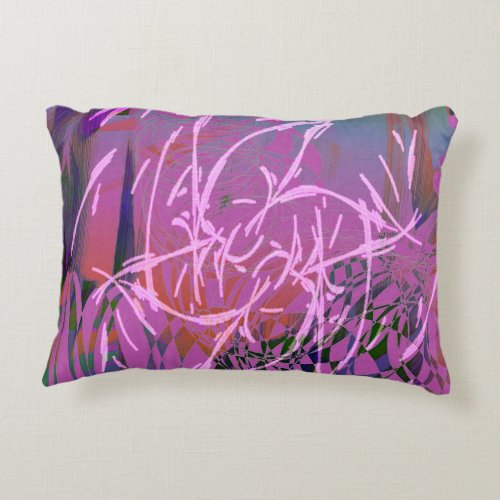 Magenta Doodles Accent Pillow