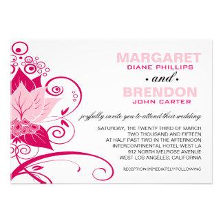 Magenta el | rosada floral abstracta de Abraxas Invitacion Personal