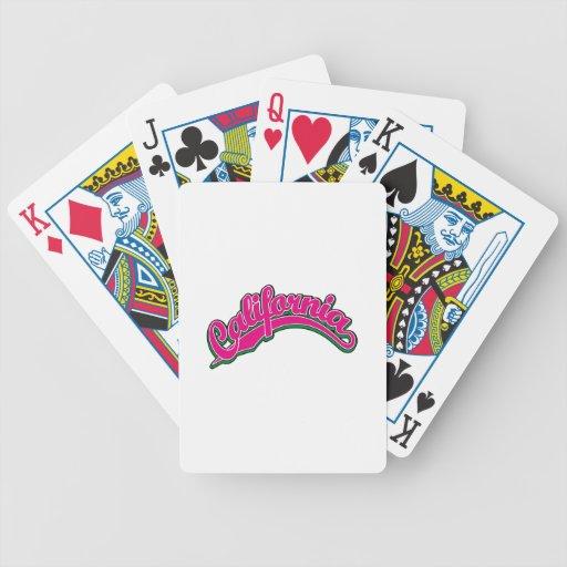 Magenta en verde cartas de juego