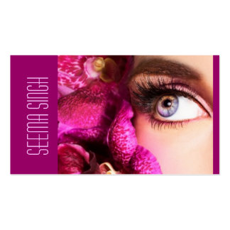 Magenta Eyes flowers Double-Sided Standard Business Cards (Pack Of 100)