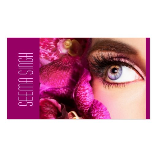 Magenta Eyes flowers Business Card Templates