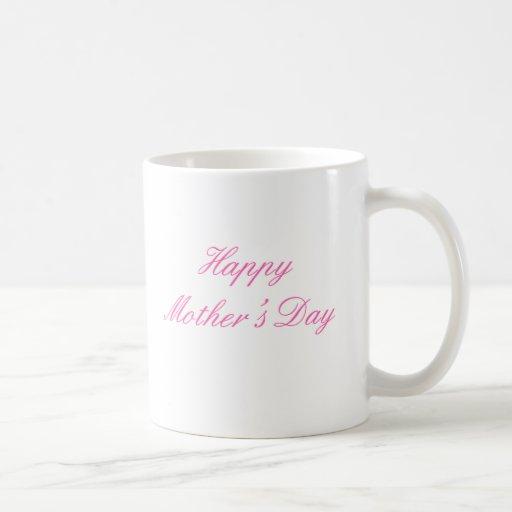 Magenta feliz del día de madre los regalos de Zazz Tazas De Café
