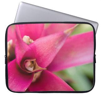 Magenta Flaming Sword Bromeliad Plant Computer Sleeves