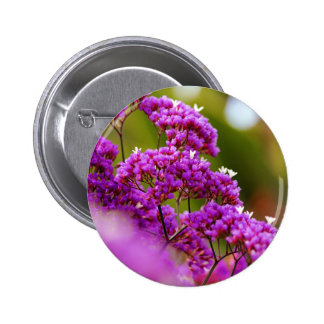 Magenta floral button