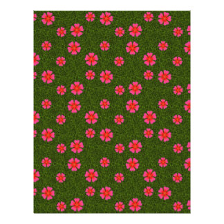 Magenta floral pattern personalized flyer