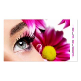 Magenta Flower Makeup Artist cosmetics Business Card Templates