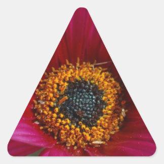 Magenta Flower Triangle Sticker