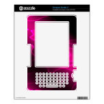 Magenta fluorescent skin for the kindle