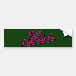 magenta Fort Lauderdale Car Bumper Sticker