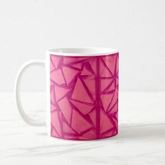 Magenta Geometric Design on Coffee Mug