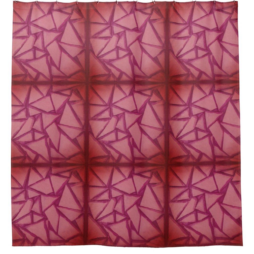 Magenta Geometric Shower Curtain w/SanTelmo Filter