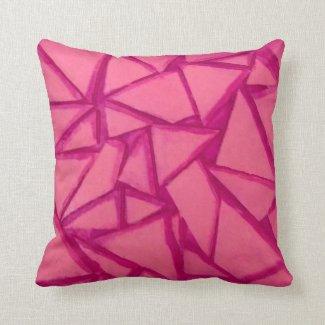 Magenta Geometric Throw Pillow
