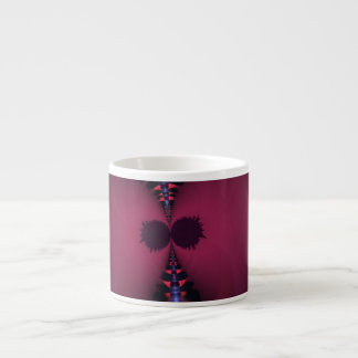 Magenta Ghost – Rose & Indigo Delight 6 Oz Ceramic Espresso Cup