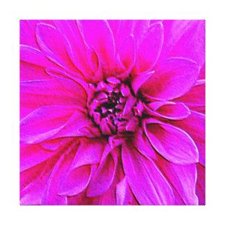 Magenta grande - dalia rosada impresión en lienzo