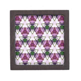 Magenta Green Burgandy Geomettic Chic Pattern Jewelry Box