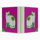 'magenta & green cat' digital painting Binder