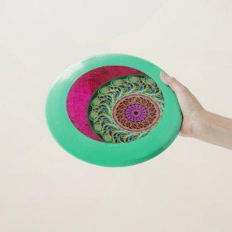 Magenta & Green Mandala Wham-O Frisbee