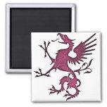 Magenta Griffon (Eagle Lion) Magnets