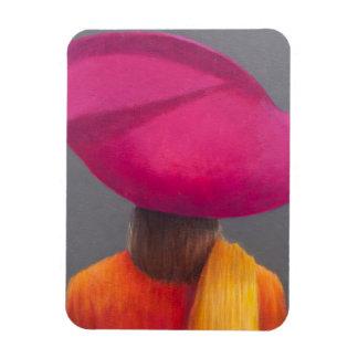 Magenta Hat Saffron Jacket 2014 Magnet