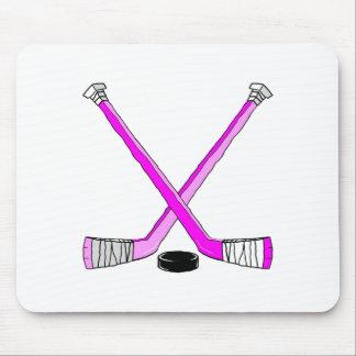 Magenta Hockey Mouse Pad