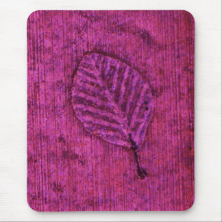 Magenta Leaf fossil Mouse Pad