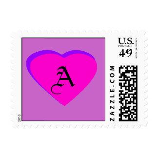Magenta - letra A de Purple Heart el MUSEO Zaz Franqueo