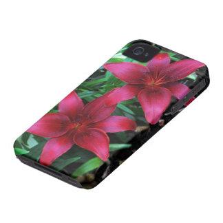 Magenta Lily Pair Case-Mate iPhone 4 Cases