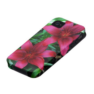 Magenta Lily Pair iPhone 4/4S Covers