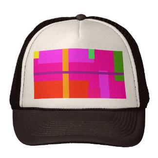 Magenta linear de la belleza gorras de camionero