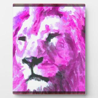 Magenta Lion Plaque
