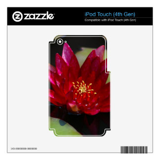 Magenta Lotus Waterlily Decals For iPod Touch 4G