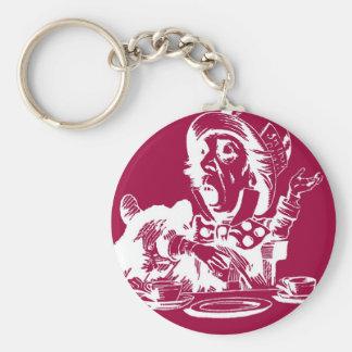 Magenta Mad Hatter Keychain