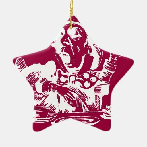 Magenta Mad Hatter Christmas Tree Ornaments