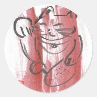 Magenta Maneki Neko Sticker Sheet