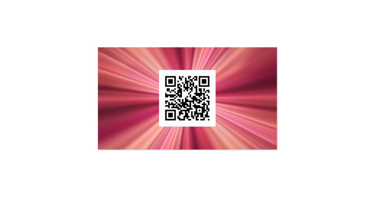 Magenta Metallic Elegance With Qr Code Business Card Zazzle