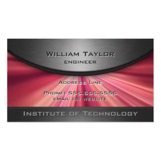 Magenta Metallic Elegance with QR code Double-Sided Standard Business Cards (Pack Of 100)