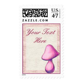 Magenta Mushroom Postage