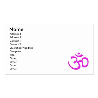 Magenta Om or Aum ॐ.png Business Cards